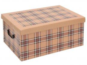 Ozdobná krabička SCOZZESE, obdélníková