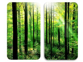 Ochranné skleněné panely FOREST na sporák – 2 ks WENKO