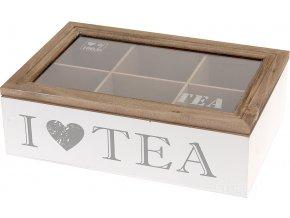 Dřevěný box na čaj -  kazeta na čaj Emako