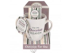 Vánoční dárkový set: hrnek Chocolate heaven, šedá barva