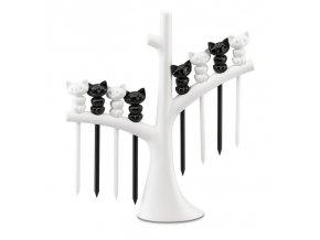Napichovátka pro občerstvení, stromeček MIAOU - bílo-černé barevné schéma, KOZIOL