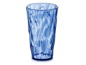 Sklenička CRYSTAL 2.0 L - modrá barva / transparentní, 0,45 l, KOZIOL