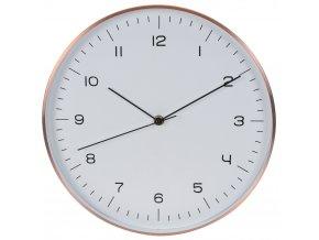 Hliníkové nástěnné hodiny, měděná barva, Ø 30 cm