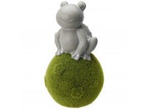 Zvířátko na kouli z mechu - žába
