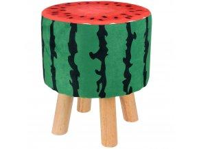 Stolička s motivem ovoce, stolička - šťavnatý meloun