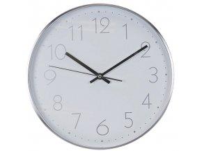 Nástěnné hodiny, barva stříbrná,  Ø 30 cm