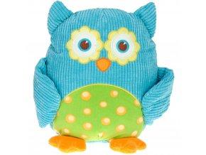 Plyšová Sova, měkký okouzlující mazlíček pro děti, modrá, 28 cm