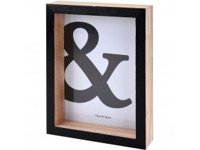 Dřevěný fotorámeček - 14 cm x 19 cm - černá Emako