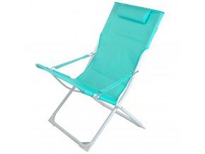 Skládací plážová židle - barva zelená