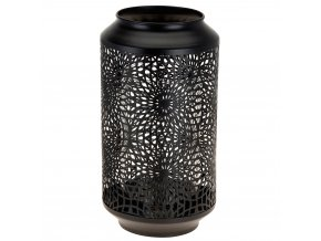 Transparentní lucernička, lucerna  barva černá Emako