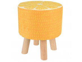 Stolička s motivem ovoce, stolička - sluneční pomeranč