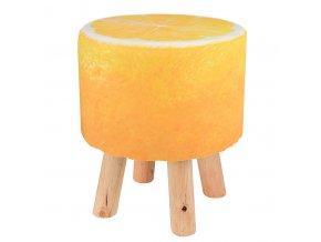Stolička s motivem ovoce, stolička - kyselý citrónek