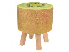 Stolička s motivem ovoce, stolička - zelené kiwi