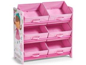Regál na skladování GIRLY, skříňka, 6 úrovně,, ZELLER