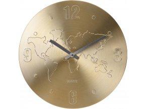 Nástěnné hodin WORLD ALUMINIUM, ∅ 35 cm