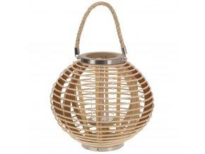 Bambusová lucerna s rukojetí, svícen Home Styling Collection