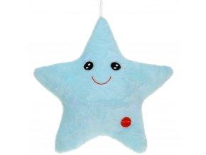 Plyšový polštářek STAR pro dětti se světýlky LED Emako