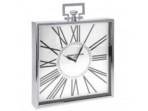 Kovový hodiny KENSINGTON STATION stolní, nástěnné  Home Styling Collection