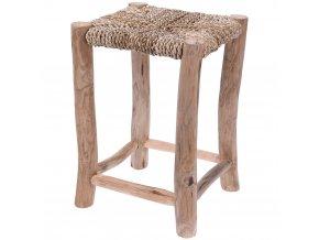 Taburet, sedadlo s mořské trávy - taburet, podnožka Home Styling Collection