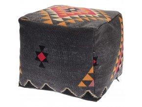 Dekorační polštář BOHO, podlahový - barva grafitová