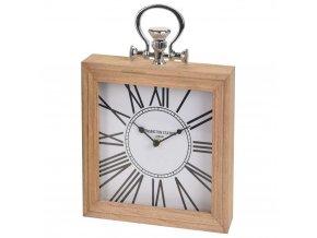 Dřevěné hodiny KENSINGTON STATION stolní, nástěnné  Home Styling Collection