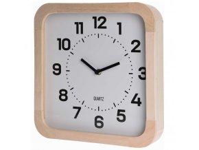 Nástěnné dřevěné hodiny, čtvercový - 30 x 30 cm Home Styling Collection