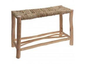 Sedadlo s mořské trávy - taburet, podnožka