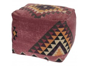 Dekorační polštář BOHO, podlahový - barva bordová Home Styling Collection