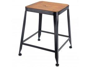 Taburet - stoleček na čtyřech nožkách, dřevěný Home Styling Collection
