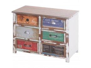 Skříňka, prádelník - úložný box se 6 zásuvkami