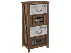 Skříňka, prádelník - úložný box s 4 zásuvkami Home Styling Collection