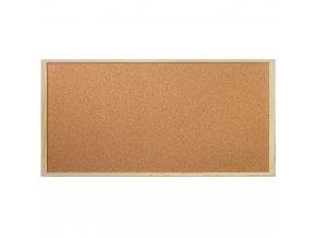 Korková tabule na poznámky, 30x60 cm, Emako