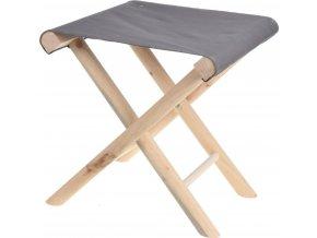 Taburet z přírodního dřeva, skládací - stolička