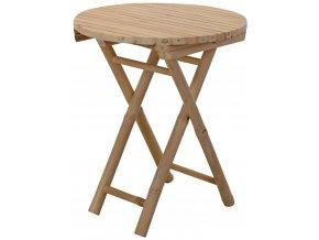 Bambusový stolek, skládací, kulatý - Ø 50 cm x H 60 cm Home Styling Collection