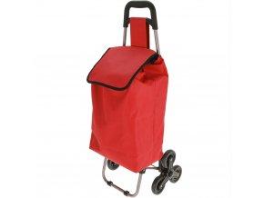 Vozík na kolečkách, nákupní taška - barva červená Emako