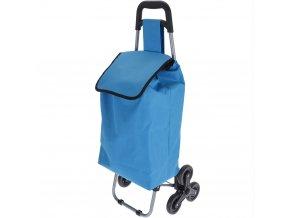 Vozík na kolečkách, nákupní taška - barva modrá Emako