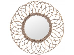 Nástěnné zrcadlo v rámečku, Ø 90 cm Home Styling Collection