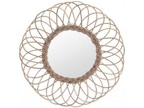 Nástěnné zrcadlo v rámečku, Ø 90 cm