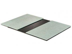 Ochranné skleněné panely LIGHT GREY GRANIT na sporák – 2 ks, ZELLER