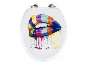 Odolné WC prkénko LIPS - 41 cm, materiál MDF, WENKO