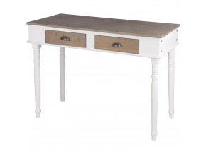 Dřevěný stolek, toaletní stolek se dvěma zásuvkami Home Styling Collection