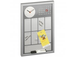 Magnetická tabule s hodinami a kalendářem,30x45 cm, ZELLER