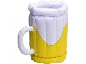 Nafukovací půllitr na chlazení piva, nádoba na led.