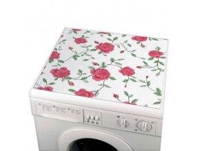Ochranná protiskluzová podložka na pračku, univerzální - růžový vzor, WENKO