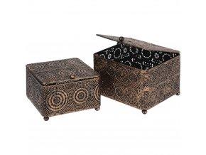 Ozdobné skříňky na drobnosti, kovové PUDEŁKA pro ukládání
