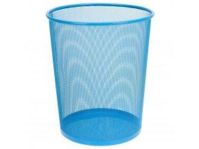 Kancelářský kovový koš na papír v modré barvě, 30x35 cm