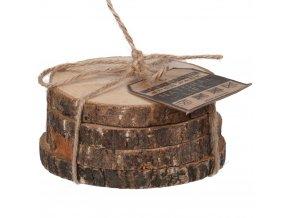 Podložka pod sklenice, dřevo - 4 ks