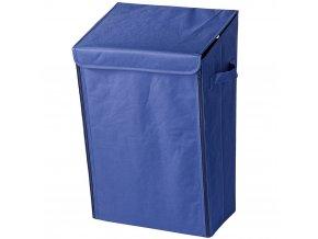 Mobilní koš na prádlo, nástěnný Turbo-Loc - 30 l, barva modrá, WENKO