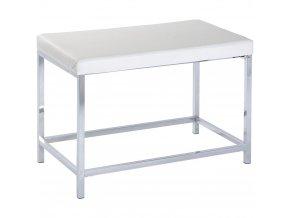 Koupelnová lavice Deluxe Long White, měkké sedadlo, taburet, WENKO