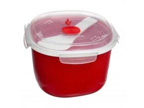 Nádoba na vaření rýže v mikrovlnné troubě + lžička - 2,7 litru